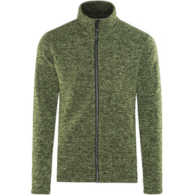Meru Östersund Knitted Fleece Jacket Men Green Melange
